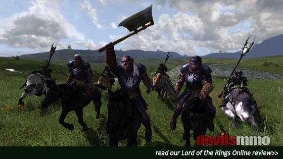 Lord of the Rings Online - Fight on a mount