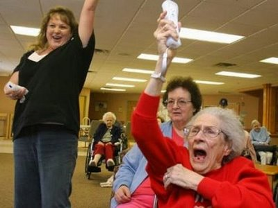Image result for seniors playing wii