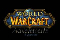 World of Warcraft Achievements in 8 years