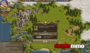 Settlers Online screenshot showing game interface
