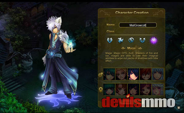 Crystal Saga Character Creation