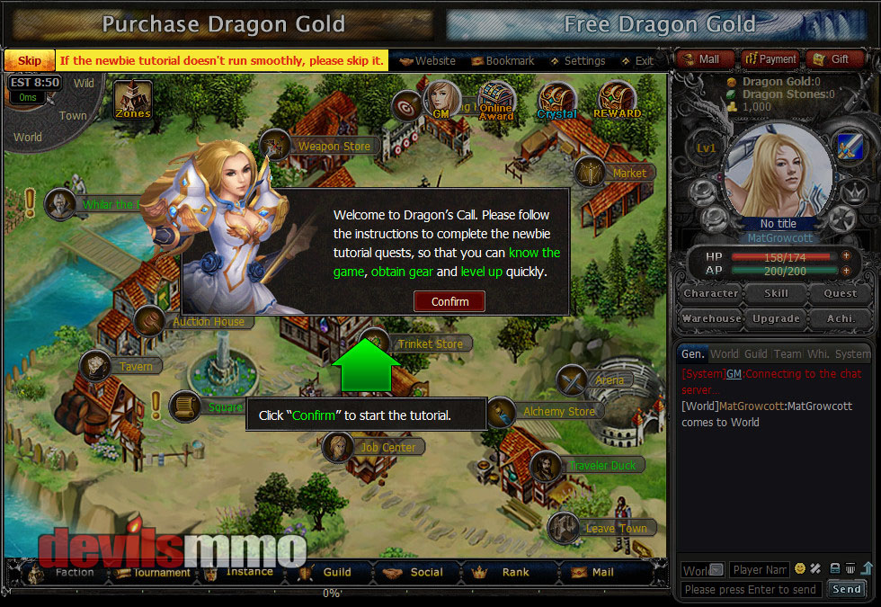 Dragon's Call | Review of the Browser based MMORPG