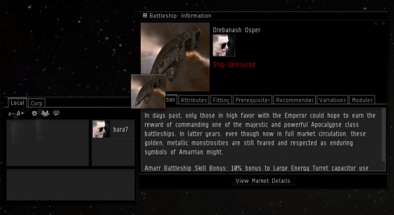 Eve Online Drag and Drop feature