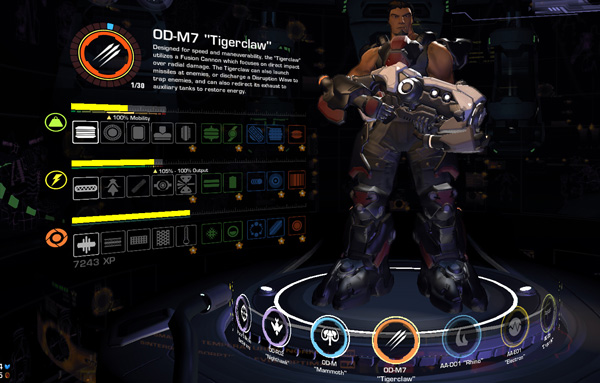 Tiger Claw battleframe from Firefall