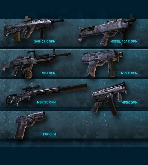 omega pack weapons - ghost recon online