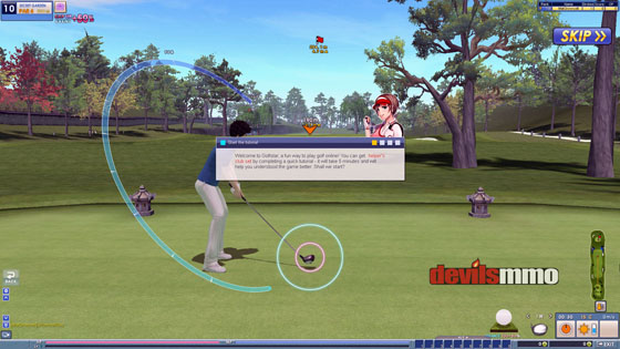 Tee-off in Golfstar golf MMO