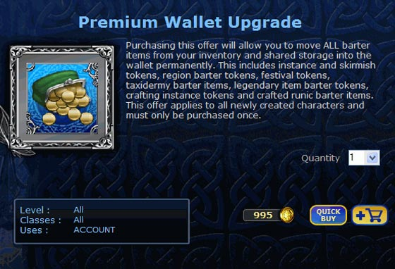 Lord of the Rings Online Premium Wallet