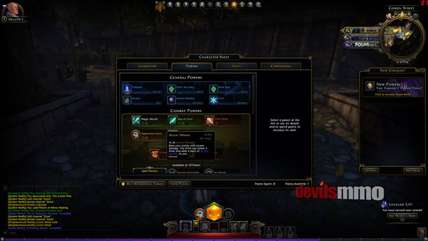 Neverwinter Power Choice System