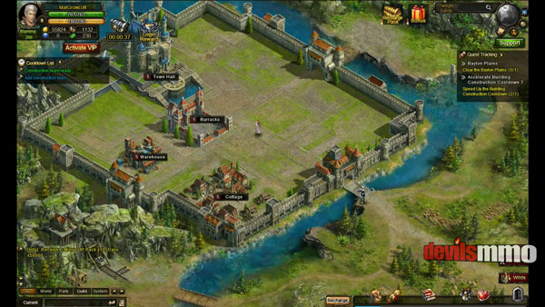 Wartune screenshot showing structures and upgrades