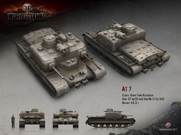 World of Tanks update 8.4 AT7