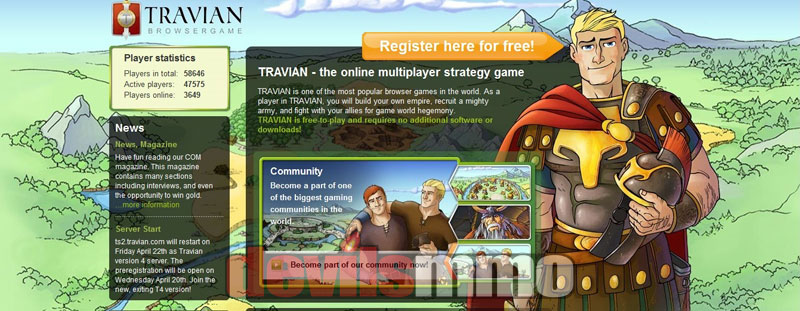 Travian is one of the most popular browser strategy games